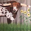 Sunflower Longhorn by Debbie LaFrance