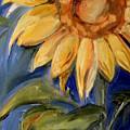 Sunflower Oil Painting by Maria Reichert