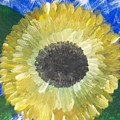 Sunflower On Blue  by Seaux-N-Seau Soileau