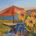 Sunflower Picnic by Carolyn Jarvis