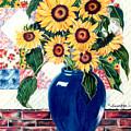 Sunflower Quilt by Anne Nye