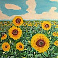 Sunflower Serendipity by Mary Mirabal