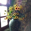 Sunflower Still Life by Kathy McCabe