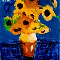 Sunflowers After Vincent Van Gogh by Contemporary Luxury Fine Art