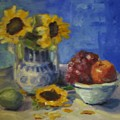 Sunflowers And Fruit by Sharon Franke