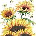 Sunflowers And Honey Bees by Melly Terpening