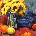 Sunflowers And Oranges by David Forks
