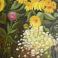 Sunflowers by Antoaneta Melnikova- Hillman