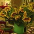 Sunflowers At The Market by Shelley Bain