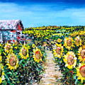 Sunflowers by Claude Marshall