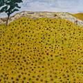 Sunflowers Field 1998. by Corinne de la garrigue