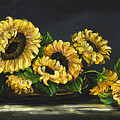Sunflowers From The Garden by Johanna Lerwick