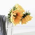 Sunflowers In A Basket by Kim Hojnacki