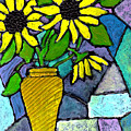 Sunflowers In A Vase by Wayne Potrafka