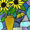 Sunflowers In A Vase by Wayne Potrafka