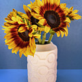 Sunflowers In Circle Vase Tournesols by William Dey
