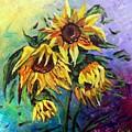 Sunflowers In The Rain by Luiza Vizoli