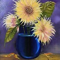 Sunflowers In Vase by Dolores Brittain