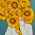 Sunflowers by Paola Morpheus