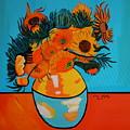 Sunflowers Van Gogh by Nora Shepley