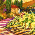 Sunlit Grapevines  Sold by Therese Fowler-Bailey