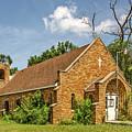 Sunlit Orange Brick Church Needing A Bit Of Work  by Sue Smith