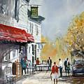 Sunlit Sidewalk - Neshkoro by Ryan Radke