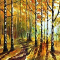 Sunny Birches by Leonid Afremov