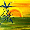 Sunny Blue Palms by James and Donna Daugherty