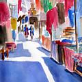 Sunny Day At The Market by Marsha Elliott