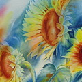 Sunny Flowers I by Tara Moorman