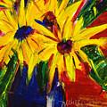 Sunny Flowers by Julie Kerns Schaper - Printscapes