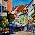 Sunny Meersburg - Germany by Leonid Afremov