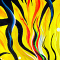 Sunny Morning, Energy. Abstract Art by Sofia Metal Queen