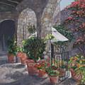 Sunny San Miguel Courtyard by Birgit Coath - AFCA