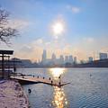 Sunny Schuylkill River In Winter by Bill Cannon