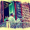 Sunny Sunday Morning Newspaper Vintage India Rajasthan Udaipur 2b by Sue Jacobi