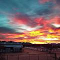 Sunrise And Horse Barn by David Stevens
