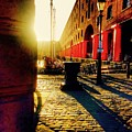 Sunrise At Albert Dock by Joan-Violet Stretch