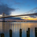 Sunrise At Bay Bridge by Javier Flores