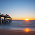 Sunrise At Belmar New Jersey by Michael Ver Sprill