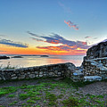 Sunrise At Castle Rock Marblehead Ma Rocky Coast by Toby McGuire