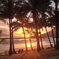Sunrise At Catseye Beach by Nathalie Laurent-Marke