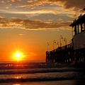 Sunrise At Daytona Beach Pier  004 by Chris Mercer