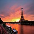 Sunrise At Eiffel Tower by © Yannick Lefevre - Photography