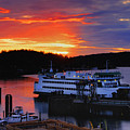 Sunrise At Friday Harbor by Bob Stevens