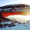 Sunrise At Mesa Arch by Karen Chatham