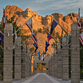 Sunrise At Mount Rushmore Promenade by Jerry Fornarotto