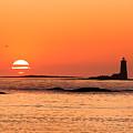 Sunrise At Odiorne Point 1 by David Goodwin