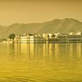 Sunrise At Pichola Lake Palace by Yew Kwang